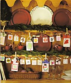 Love this garland.  Wonder where I can find little bitty bags?