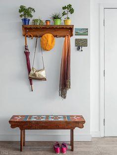 Apartamento ganha mais espaço com sala e cozinha unidas - Casa Adorei o banco!