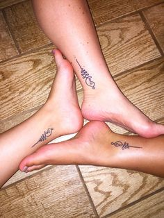 Unalome Mother-Daughter Tattoos