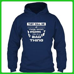 They Call Me A Crazy Soccer Mom Like It's A Bad Thing T Shirt, Gift For Mom T Shirt Hoodie (XL,Navy) - Sports shirts (*Amazon Partner-Link)