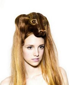 頭の上に犬の形?!個性的レディース向けのヘアスタイル♡みんなの目は釘付けな髪型・カット・アレンジ☆