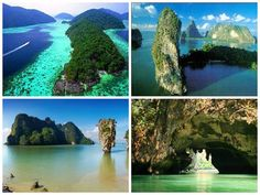 """Ao Phang Nga National Park (Thai: อุทยานแห่งชาติอ่าวพังงา) is in Phang Nga Province in southern Thailand. It was created by royal decree on 29 April 1981. The park includes coastal sections of Muang Phangnga District and Takua Tung District in the Andaman Sea where you will find numerous limestone tower karst islands. The best known of these islands is Khao Phing Kan, popularly called """"James Bond Island"""" because it was used as a location for the James Bond movie The Man with the Golden Gun."""