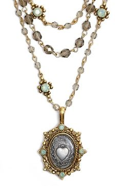 Free shipping and returns on Virgins Saints & Angels 'Magdalena' Necklace (Nordstrom Exclusive) at Nordstrom.com. A framed sacred heart medallion brings meaning to a handmade multistrand necklace alight with Swarovski crystals and beads.