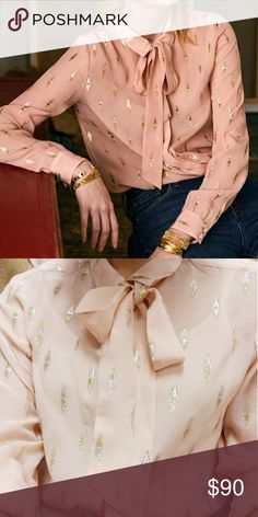65fe4c1b7d93a Sezane lady shirt pink lurex silk 36 Worn 2 or 3 times. Im normally 00
