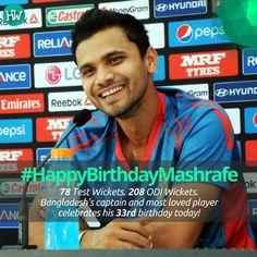 #HappyBirthdayMashrafe, Bangladesh's most loved captain! #BANvENG #BANvAFG #cricket