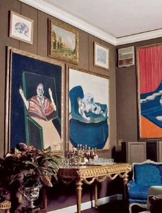 Mixed era interior with Francis Bacon works x2