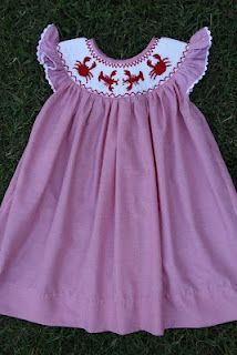 child's bishop smocked dress