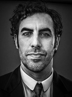 Sacha Baron Cohen by Andy Gotts Andy Gotts, Sacha Baron Cohen, Celebrity Portraits, Male Portraits, Star Pictures, Black And White Portraits, Male Face, Famous Faces, Comedians