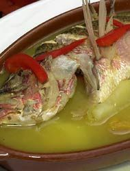 Viuda de pescado...pescadito hervido con yuca .