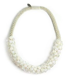 Ivory Pearl, Sky Necklace $375