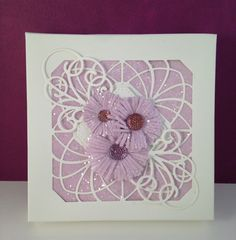 Sue Wilson - The Noble Collection - Ornate Pierced Squares, Sue Wilson - Finishing Touches - Cornflower