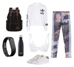 """Untitled #47"" by t-harrelson on Polyvore featuring adidas Originals, Simone Perele, S'well and Fitbit"
