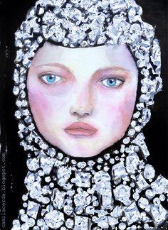 Illustration by Camila Cerda Dolce & Gabbana Summer 2015 Portrait of Gemma Ward
