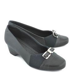 84af56e53 Sapato Usaflex Couro Preto - Preto. Sapatos Femininos ...