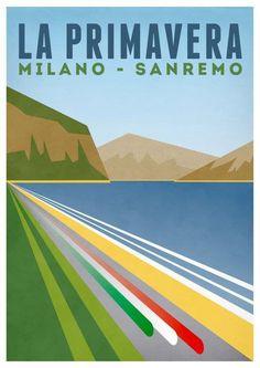 Carteles antiguos de ciclismo de los 5 Monumentos | El Tío del Mazo