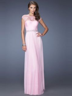 Sheath/Column Short Sleeves Scoop Floor-length Chiffon Beading Dresses
