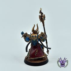 Thousand sons (Tzeentch) - Sorcerer #ChaoticColors #commissionpainting #paintingcommission #painting #miniatures #paintingminiatures #wargaming #Miniaturepainting #Tabletopgames #Wargaming #Scalemodel #Miniatures #art #creative #photooftheday #hobby #paintingwarhammer #Warhammerpainting #warhammer #wh #gamesworkshop #gw #Warhammer40k #Warhammer40000 #Wh40k #40K #chaos #warhammerchaos #warhammer40k #tzeentch #thousandsons #Sorcerer Thousand Sons, Warhammer 40000, Tabletop Games, Gw, Miniatures, Change, Creative, Painting, Color