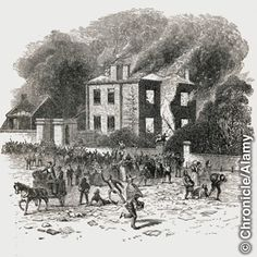 Rioters destroying Joseph Priestley's house and laboratory
