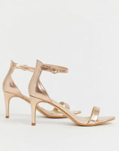 afa31fef5e0fb Shop Truffle Collection mid heel barely there sandals at ASOS.
