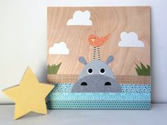 Hey, I found this really awesome Etsy listing at https://www.etsy.com/listing/222643735/hippo-collage-kids-wall-art-jungle-theme