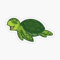 Bubble Stickers, Turtle, Prints, Turtles, Tortoise