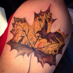 Celebration of Fall Tattoo.  ~  Beautiful Tattoos Inspired By Fall : theBERRY