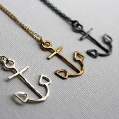 Anchor Necklaces by Rachel Pfeffer