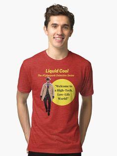 Liquid Cool Welcome Yellow Circle Art Tri-blend T-Shirt Detective Series, Circle Art, Cyberpunk, Cool T Shirts, Science Fiction, Classic T Shirts, Dragon, Cool Stuff, Yellow