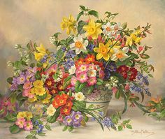 Spring Flowers And Poole Pottery - Albert Williams