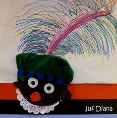 PIETJE : Voorbereidend schrijven -- VEER. Het pietenhoofd is halverwege aan de onderkant van het papier geplakt. Art Lessons Elementary, Holidays And Events, Art Drawings, December, Seasons, Christmas Ornaments, Holiday Decor, Projects, Kids