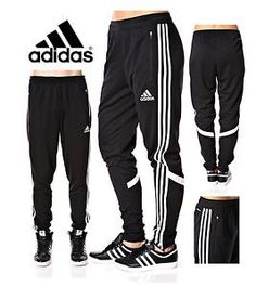 d6b2dba085f4 Details about Soccer Pants Slim Fit Training Climacool Black Skinny Athletic  YoungLA 201