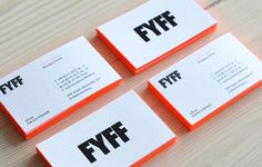 Branding - Less is More FYFF - Corporate Design Perhaps one of the most difficult dilemmas associate Corporate Branding, Corporate Design, Business Branding, Business Card Design, Design Corporativo, Logo Design, Brand Identity Design, Print Design, Modern Business Cards