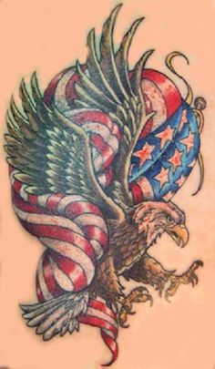 eagle tattoo | ... Eagle Tattoos- High Quality Photos and Flash Designs of American Eagle