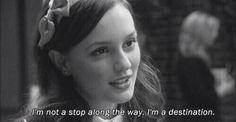 I'm not a stop... I'm a destination