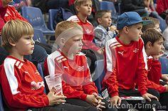 Salzburg Red Bulls - Sturm Graz. Austrian football league. Salzburg young fans at the tribune
