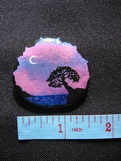 original hand-painted acrylic on rock