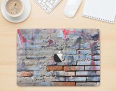 """The Blue Chipped Graffiti WallSkin set for the 12"""" MacBook Skin Kit for the Apple MacBook Air-Pro or Pro with Retina Display(Choose Version)"""