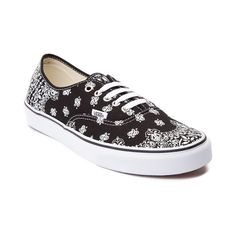 d0b7592bc3 Look rad to the bone with the new Authentic Bandana Skate Shoe · Vans  Authentic BlackVulcanized ...