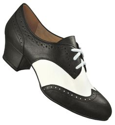 Aris Allen Women's Black and White Spectator Oxord Wingtip Swing Dance Shoes $49.95