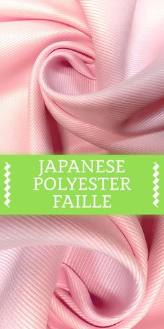 Japanese Polyester Faille in Pink Textile Pattern Design, Textile Patterns, Sewing Patterns, Different Types Of Fabric, Kinds Of Fabric, B And J Fabrics, Textile Fabrics, Fashion Terminology, Fabric Board