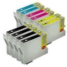 Remanufactured Replacement for Epson T127 10-Set Ink Cartridges: 4 Black & 2 each of Cyan / Magenta / Yellow (for Epson work force WF printer) - $65