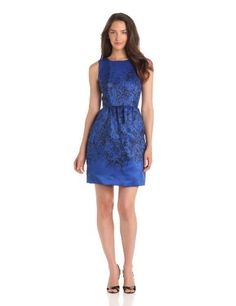 Taylor Dresses Women's Shadow Floral Dinner Dress #workdresses