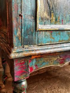 Cool Diy Projects Furniture Design Ideas For Bedroom furniture shabby chic furniture diy furniture whimsical furniture distressed Red Painted Furniture, Distressed Furniture, Funky Furniture, Refurbished Furniture, Paint Furniture, Shabby Chic Furniture, Furniture Makeover, Furniture Design, Cheap Furniture