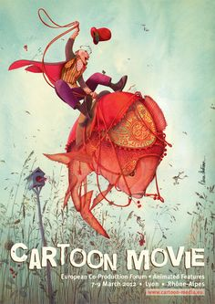 Europe's Cartoon Movie Festival Announces 2012 Line-up Art And Illustration, Illustrations And Posters, Animated Movie Posters, Cartoon Movies, Book Art, Creations, Festival Posters, Europe, Inspiration
