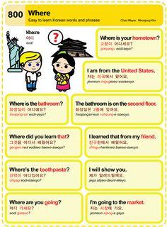 Easy to Learn Korean Language 791 ~ 800 Learn Basic Korean, Learn To Speak Korean, Korean Verbs, Korean Phrases, Korean Words Learning, Korean Language Learning, Language Study, Learn A New Language, German Language