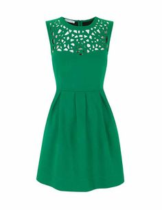 emerald cutout dress.