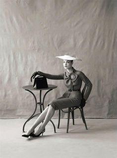 The Great Pretender  Vogue US, May 2009   Photographer: Steven Meisel  Model: Natalia Vodianova as Jean Patchett  Christian Dior, Pre-Fall 2009 —