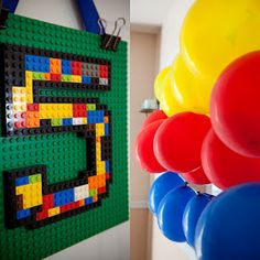 #5 Lego sign for LEGO party!