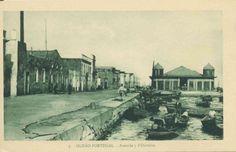 """Olhão - Imagem antiga da """"Barreta"""" onde se vê um praça da Guarda Fiscal a vigiar o cais."""