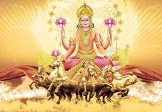 Surya Dev Hd Wallpaper   Hindu Gods and Goddesses Sun Worship, Vedic Mantras, Hindu Mantras, Hindus, Hanuman, Durga, Krishna, Indian Gods, Indian Art